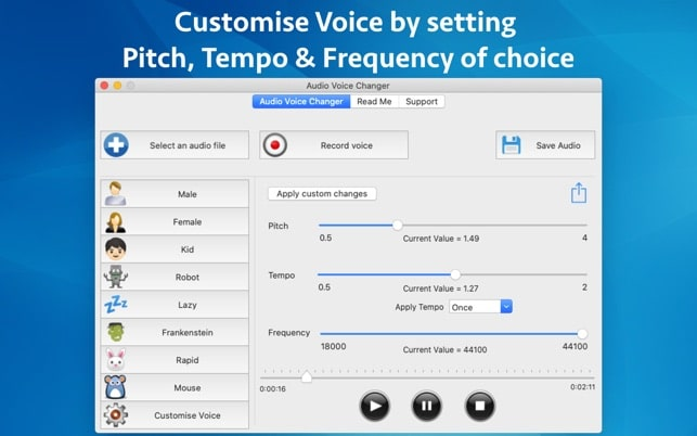 audio voice changer mac