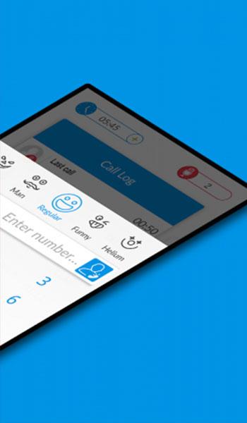 funcalls voice changer modulador de voz para llamadas