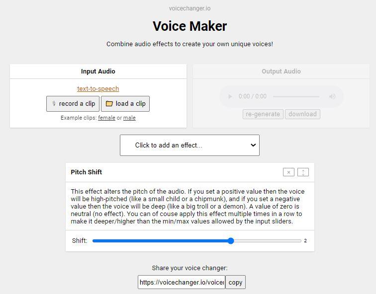 Cambiador de voz a mujer online gratis