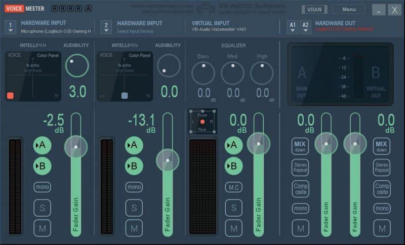 voicemeeter modulador de voz en tiempo real