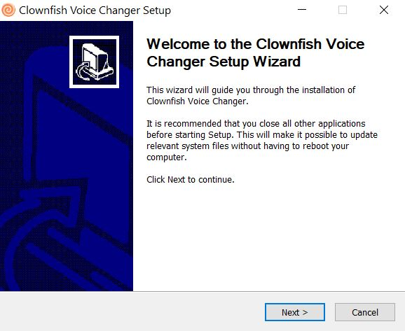 instalador clownfish voice changer